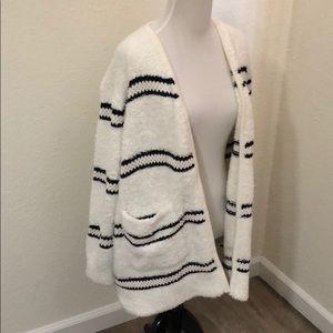 63e099318 Madewell Sweaters | Striped Boucle Cardigan Sweater | Poshmark